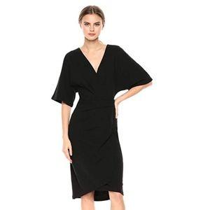 NWT Michael Stars pleat wrap dress